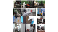 پاکسازی و ضدعفونی کردن اسکان کارگری و ماشین آلات خدمات شهری